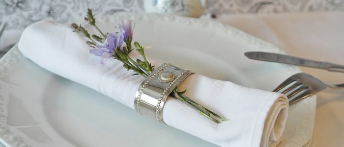 Serviette mit Ring