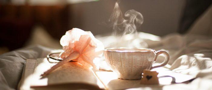 tea-time, Tasse, Buch, Stift